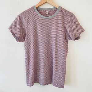 American Apparel USA Gray and Red Cotton Shirt XS